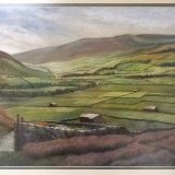 Swaledale from Muker (pastel) SOLD