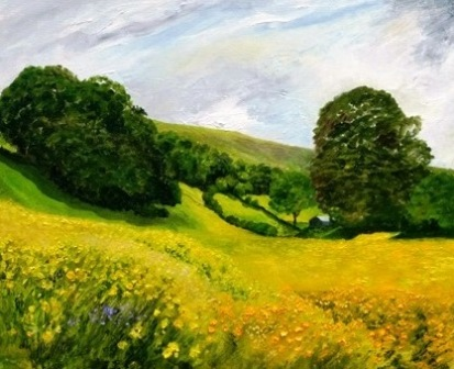 Summer Meadows near Muker, Swaledale (oils) SOLD