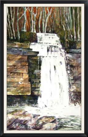 West Burton Falls, Wensleydale. (watercolour) SOLD