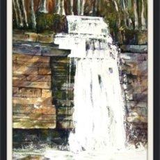 West Burton Falls, Wensleydale. (watercolour) SOLD