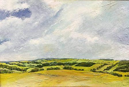 "Roomer Common, Masham (oils) £220  (24x18"")"