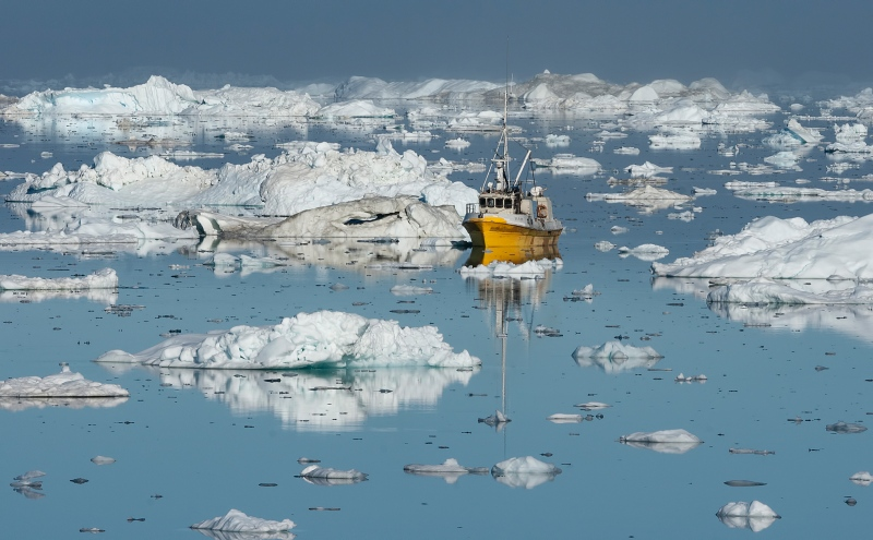 02 Icefjord Fishing Greenland by Jane Lee
