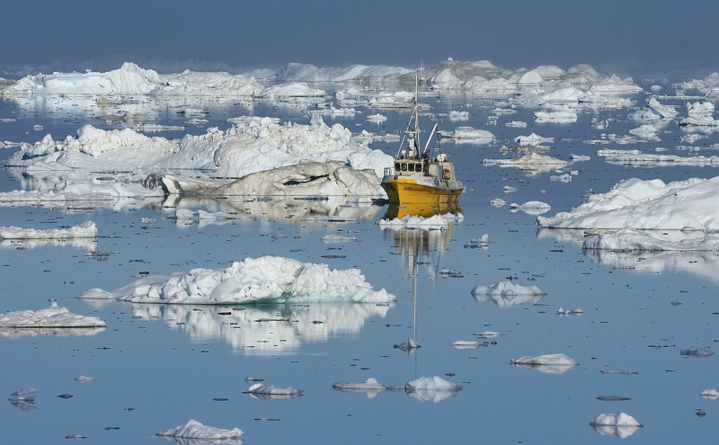 06 Icefjord Fishing Greenland by Jane Lee