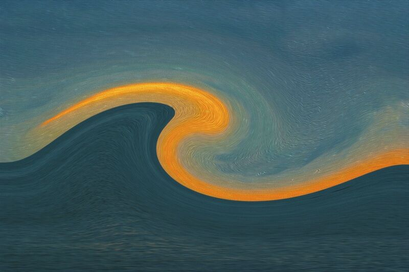 35 On the Crest of a Wave by Pam Hunt