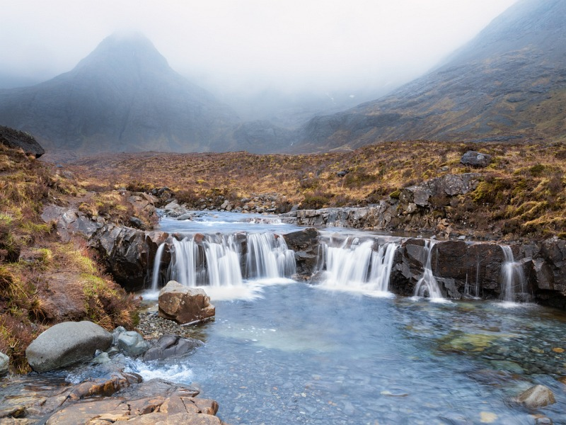 Balck Cuillins Melt Water by Steve Lord