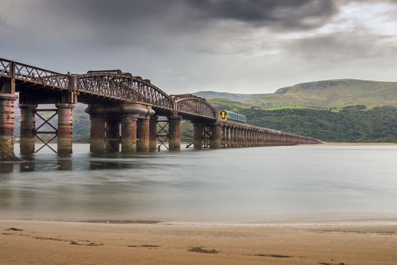 Barmouth Rail Bridge by Helen Lord