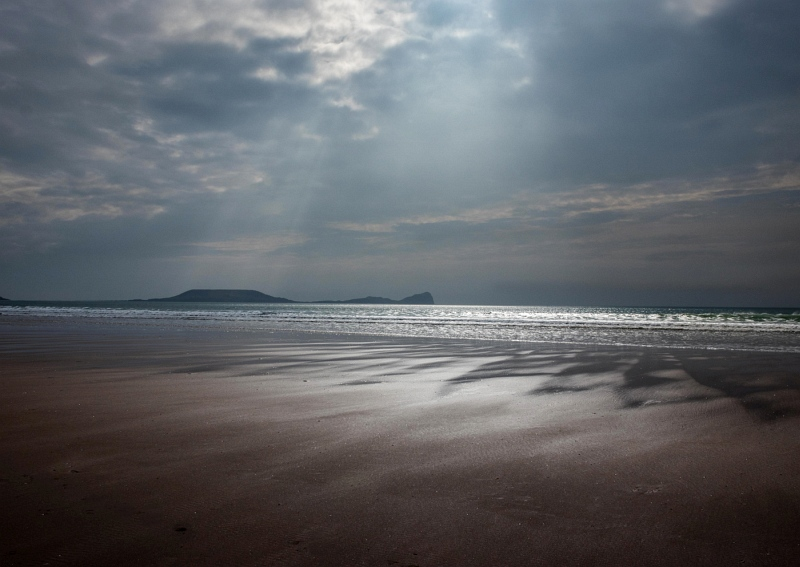 Evening Light At Rhossili Bay by Helen Gibson