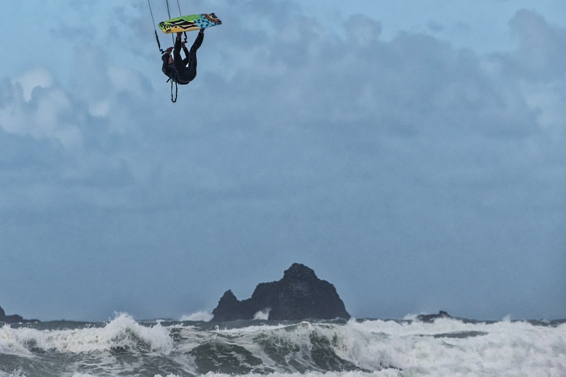 High Flying Kite Surfer by Malcolm Kitto