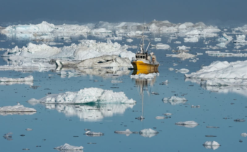 Icefjord Fishing Greenland by Jane Lee