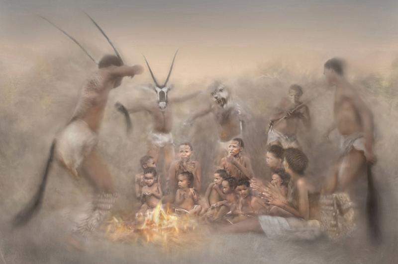 Shaman ritual trance dance by Lisa Bukalders