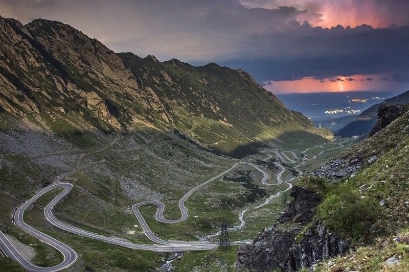 Midnight on Transfagaran by God's Light by Richard Anders, Highly Commended Section A