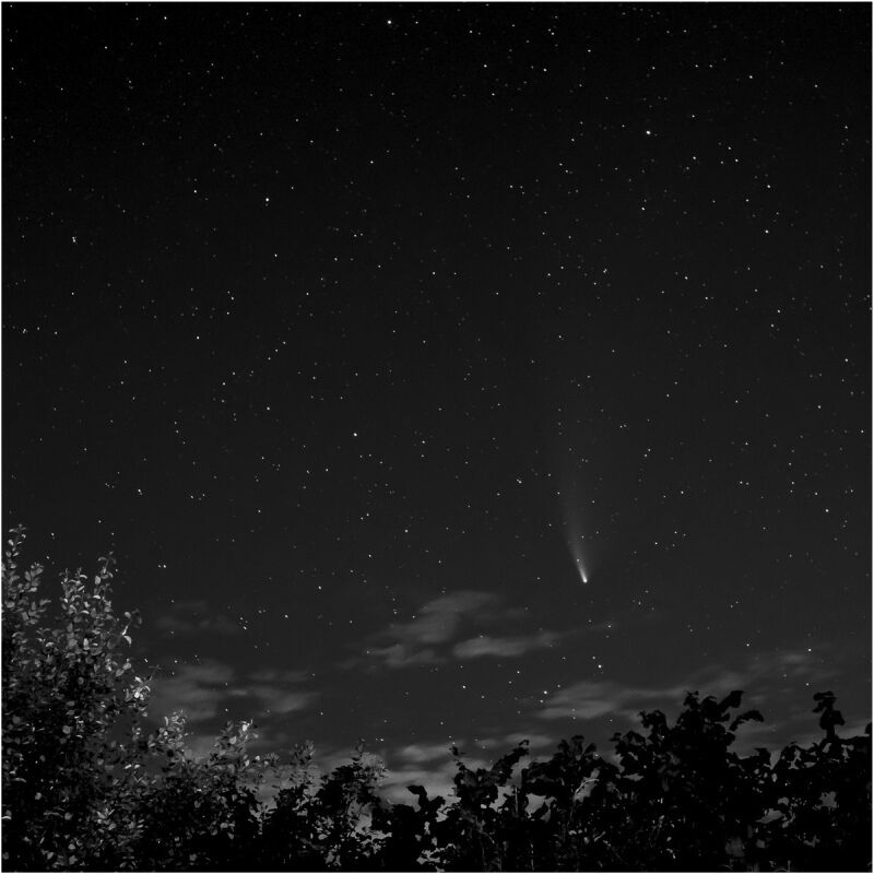 Neowise over the A35 by Phil Whiffing Commended Section B