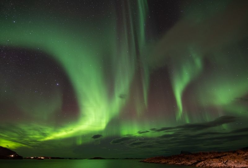 Northern Lights over Sommaroy by Jenny Warr