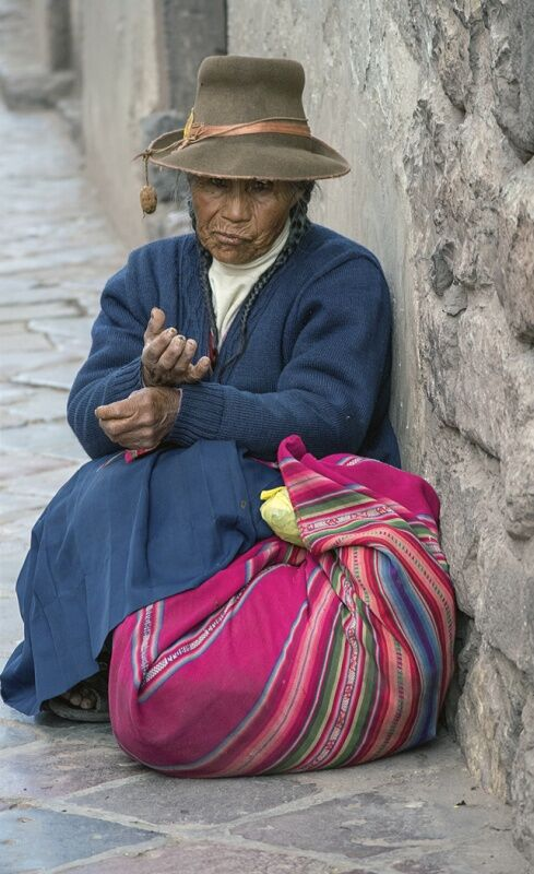 Old Lady in Peru by Lesley Phillips Highly Commended Section B