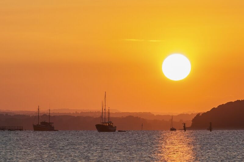 Poole Harbour sunset by David Knott First Section B