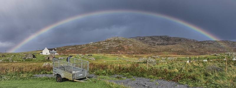Rainbow - South Uist by Maggie Lawrence, Highly Commended Section B