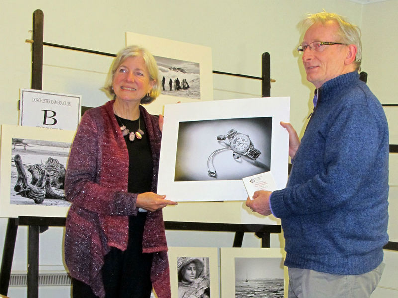 Roy Barrow : Being Congratulated by Ginny Campbell