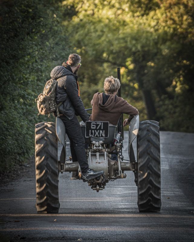 Two On Tractor by Peter Downton Highly Commended Section B