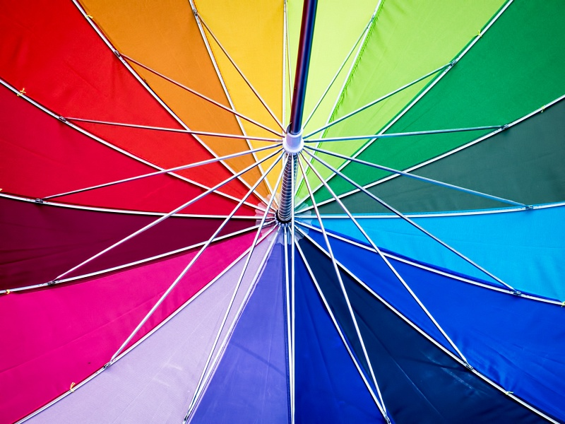 Umbrella Rainbow by Helen Jones