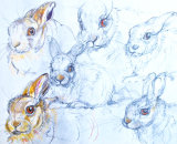 Lloyd the Lathbury Leveret - brown hare young 40x30cm approx