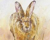 Tiney - Running hare 46x30 approx (Edition size 75) print made to order