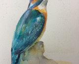 Birhtu - kingfisher 27x18cm