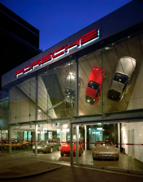 Porsche Showroom client Pilkington