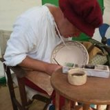 Me, working at the Lincolnshire Show as a Tudor potter