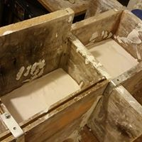 Cottle boxes for setting plaster