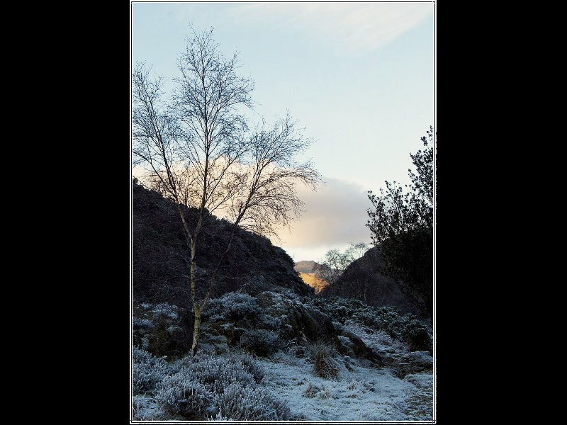 Winter sun in Snowdonia