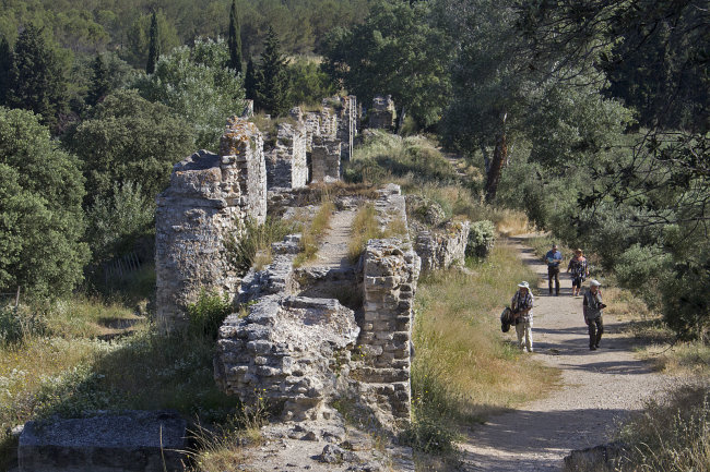Group at Roman Aquaduct