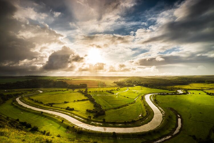 The River Cuckmere from high and Over