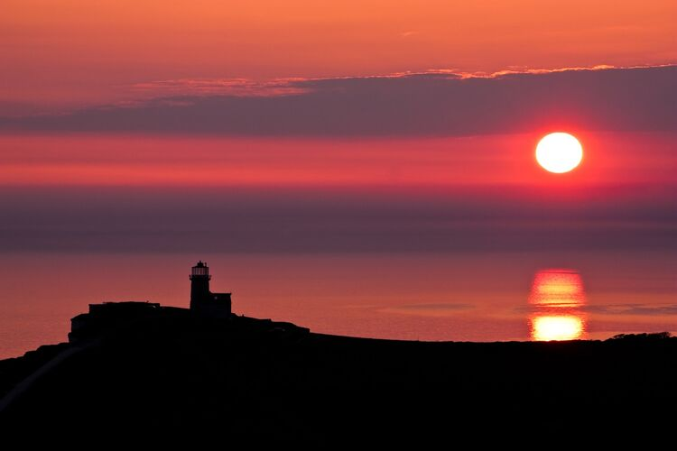 Belle tout lighthouse silhouette