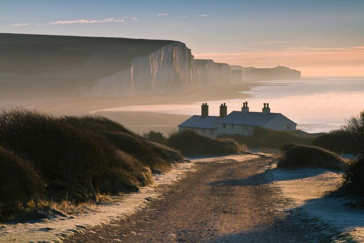 The Seven Sisters Coast guard cottages