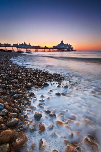 Sunrise at Eastbourne pier