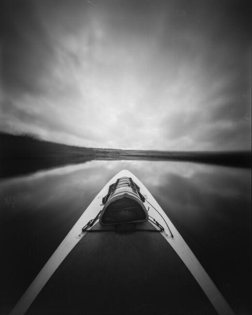 Paddle boarding pinhole, the river ahead.
