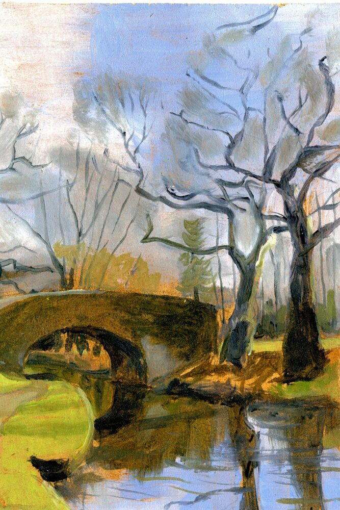 Oil sketch of bridge 112