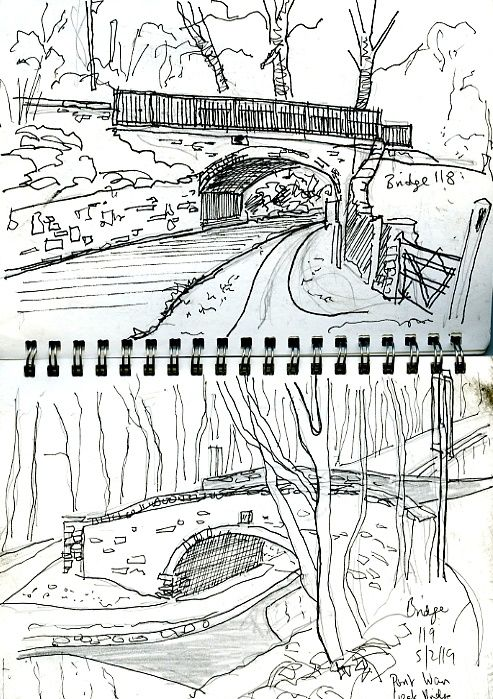sketches of canal bridges
