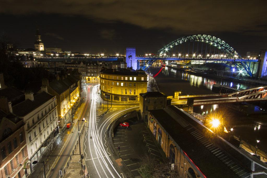 Tyne Bridge from the High Level