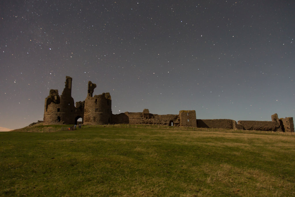 Night Shot of Dunstanburgh Castle
