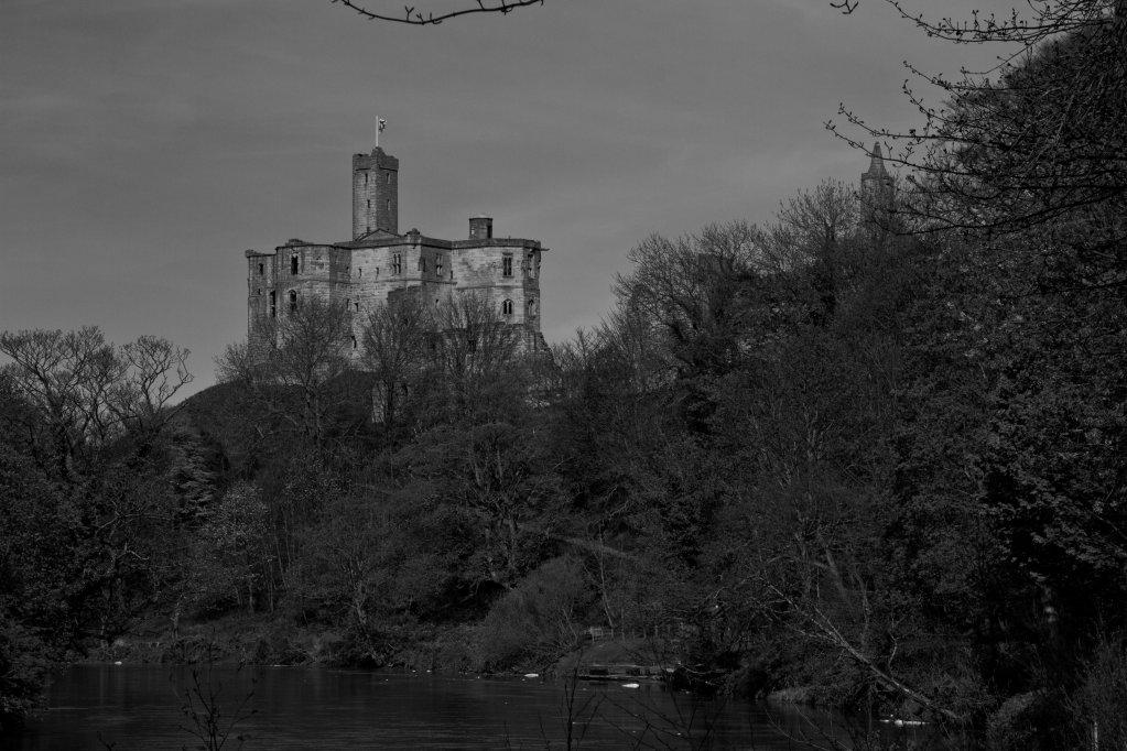 Warkworth Castle (Black and White)