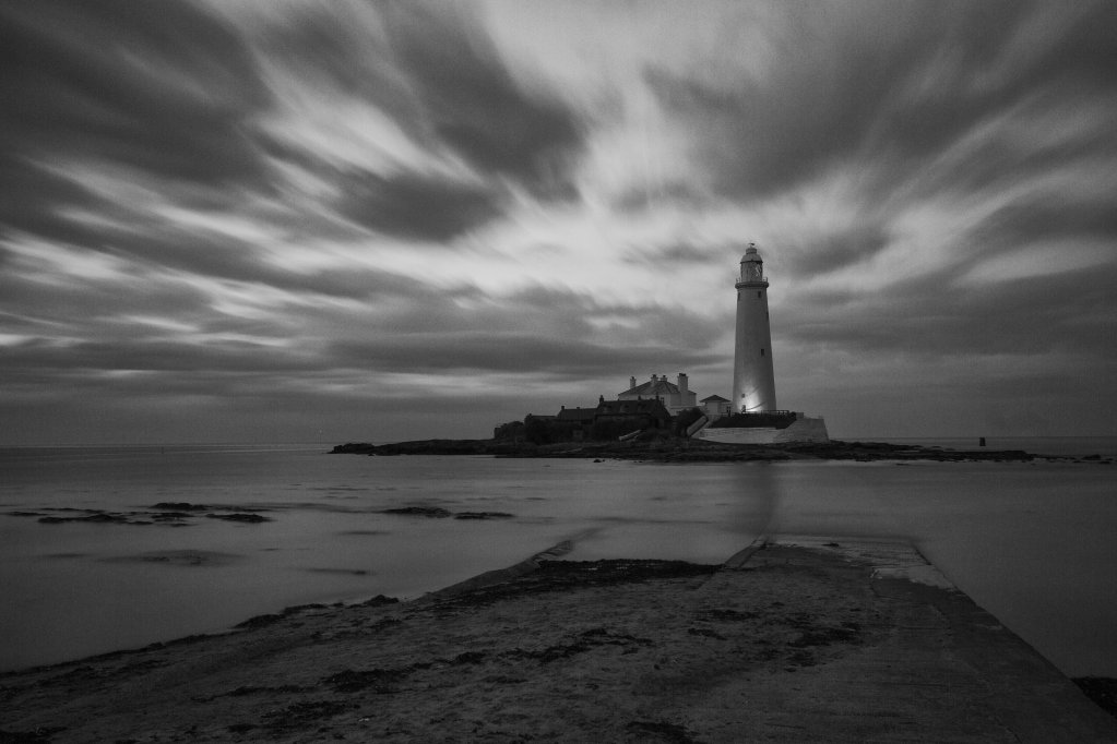Long exposure shot of St Marys Island