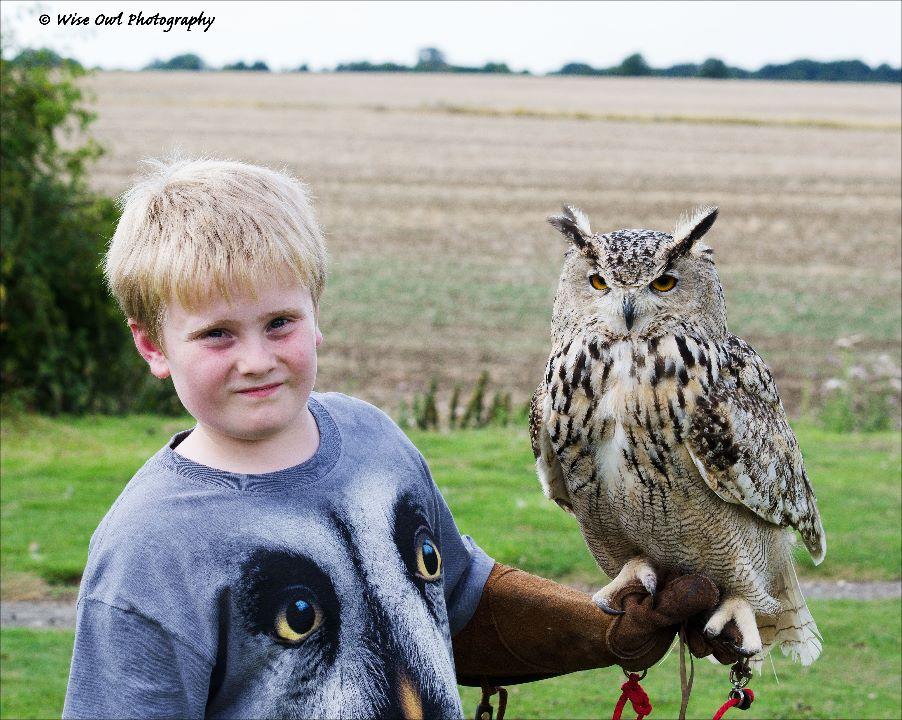 Siberian Eagle Owl 5 with Junior Handler Harry