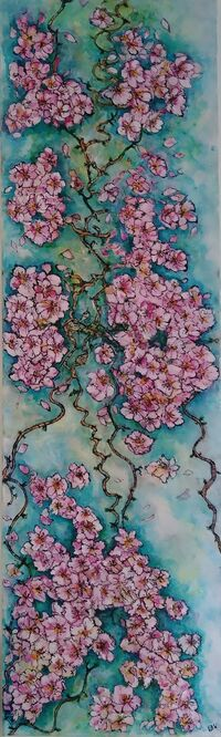 Doodle Cherry Bloom - Elaine Winter