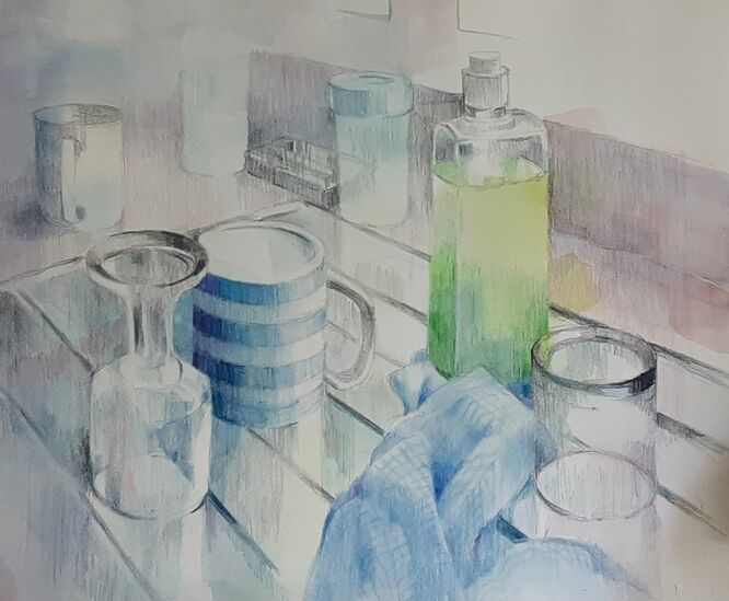 Lockdown 2020 - gin, wine and coffee - Liz Seward
