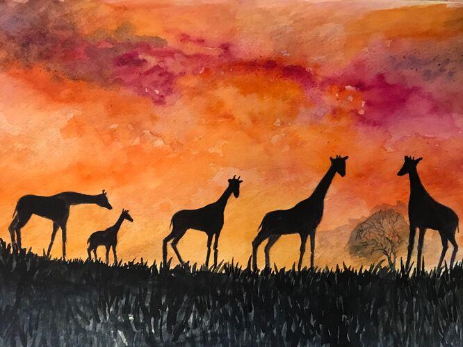 African Sunset - Elaine Balmer