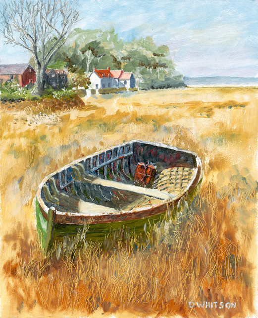 Autumn 2018 - David Whitson - Old Boat at Pin Mill Suffolk