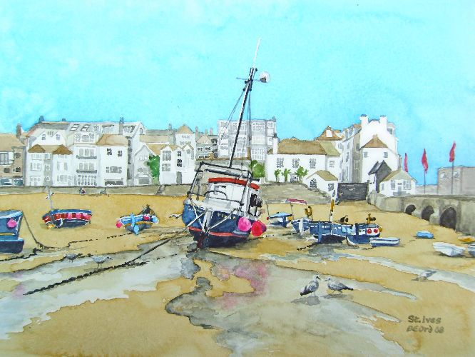 Brenda Ord - Low Tide at St Ives