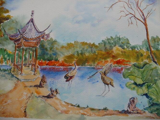 Chinese Pagoda at Wisley Gardens - Brian Blair