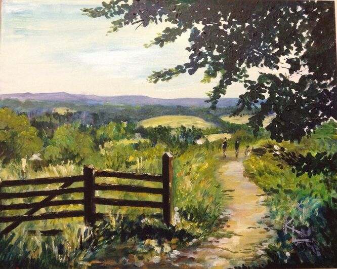 A Country Walk, Surrey - Kathy Lemmer